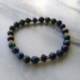 Crystal Jewelry--Soother #3--Light Stress On Up To Anxiety (Azurite/Malachite and Lapis Lazuli)