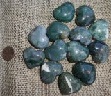 GREEN MOSS AGATE HEARTS #1