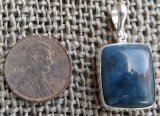 STERLING SILVER DIANITE/BLUE JADE PENDANT #11