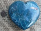 TEAL APATITE HEART #4