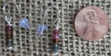 STERLING SILVER MULTI-COLORED TOURMALINE EARRINGS #2