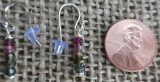 STERLING SILVER MULTI-COLORED TOURMALINE EARRINGS #3