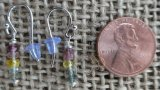 STERLING SILVER MULTI-COLORED TOURMALINE EARRINGS #5