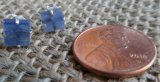 STERLING SILVER BLUE KYANITE EARRINGS #2