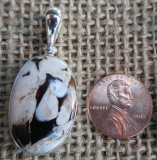 STERLING SILVER PEANUT WOOD PENDANT #11