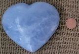 BLUE CALCITE HEART #4