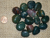 Bloodstone Shapes and Tumbles