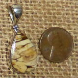 STERLING SILVER PEANUT WOOD PENDANT #5