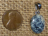 STERLING SILVER BLUE DENDRITIC AGATE PENDANT #10