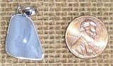 STERLING SILVER BLUE LACE AGATE PENDANT #14