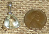 STERLING SILVER ORTHOCLASE FACETED GEMSTONE PENDANT #3
