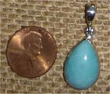 STERLING SILVER AMAZONITE PENDANT #32