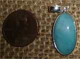 STERLING SILVER AMAZONITE PENDANT #31