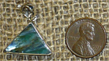 STERLING SILVER BLUE AND GREEN KYANITE PENDANT #31