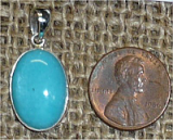 STERLING SILVER AMAZONITE PENDANT #6