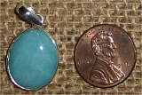 STERLING SILVER AMAZONITE PENDANT #30