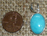 STERLING SILVER AMAZONITE PENDANT #19