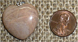 STERLING SILVER PEACH MOONSTONE PENDANT #15