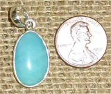 STERLING SILVER AMAZONITE PENDANT #28