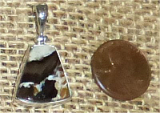 STERLING SILVER PEANUT WOOD PENDANT #8