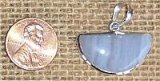 STERLING SILVER BLUE LACE AGATE PENDANT #15