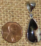 STERLING SILVER PEANUT WOOD PENDANT #4