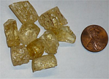 YELLOW SCAPOLITE CRYSTALS #3