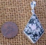 STERLING SILVER THULITE PENDANT #12