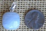 STERLING SILVER BLUE LACE AGATE PENDANT #12