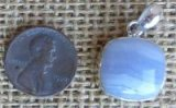 STERLING SILVER BLUE LACE AGATE PENDANT #16