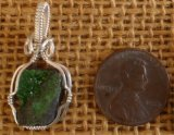 WIRE WRAPPED (STERLING SILVER) UVAROVITE PENDANT #8
