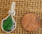 WIRE WRAPPED (STERLING SILVER) UVAROVITE PENDANT #10