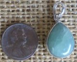 STERLING SILVER GREEN MOONSTONE PENDANT #11