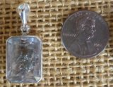 STERLING SILVER QUARTZ WITH GOLDEN PYRITE PENDANT #13