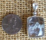 STERLING SILVER QUARTZ WITH GOLDEN PYRITE PENDANT #18
