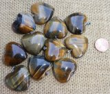 HAWK'S EYE/TIGER EYE HEART PENDANTS #9