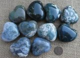 GREEN MOSS AGATE HEARTS #3