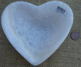 WHITE ARAGONITE HEART BOWL #2