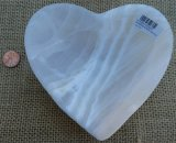 WHITE ARAGONITE HEART BOWL #6