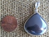 STERLING SILVER HEMATITE PENDANT #2