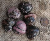 Rhodonite Shapes and Tumbles