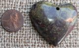 DRAGON STONE/DRAGON'S BLOOD HEART PENDANT #6